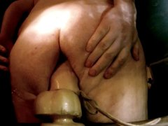 Fat bear vidz fucking huge  super dildo & has tied up balls
