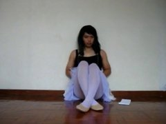 Asian trap vidz in ballerina  super outfit jaerks and cums