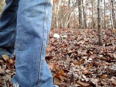 Jerking in vidz the woods