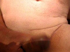 65 yrold vidz Grandpa #9  super mature penis close closeup wank uncut