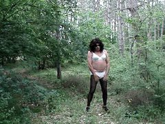 crossdresser in vidz the woods