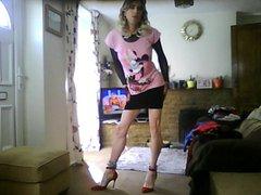 sexy short vidz skirt and  super t-shirt