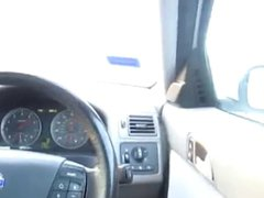 dude gets vidz horny driving  super home fro O garden