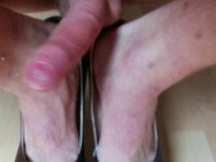 Shoejob with vidz skyhigh heels  super by myself with massive cum shot