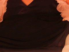 Double layer vidz nylon gown  super wank