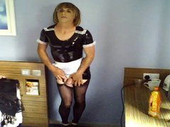 Jenny changing vidz for her  super maid service