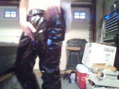 tight vinyl vidz pants