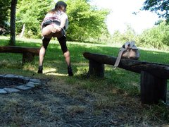 Tranny is vidz fucking her  super cunt outdoor