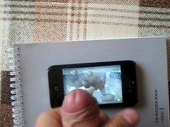 sperm on vidz iphone