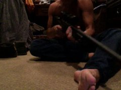 straight guys vidz feet on  super webcam - soccer player, part 3