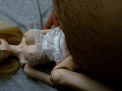 Blonde cute vidz anime Dollfie  super onahole doll fuck