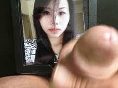 Facial cum vidz tribute for  super this asian beauty