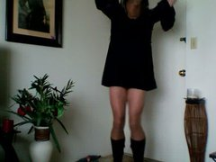 pantyhose and vidz boots
