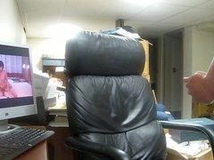 Cumshot on vidz leather chair  super 5