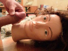 Cum Facial vidz On Mannequin  super (with slow mo)
