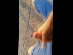 Fapping on vidz the street