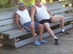 older gays vidz have sex  super in public park