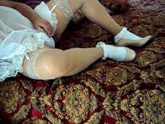 White Wedding vidz Nyoln Panties  super Sissy Ankle Soc CFM Heels