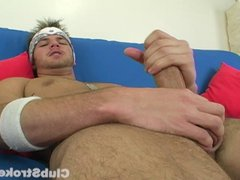 Muscular Straight vidz Guy Brad  super Masturbating