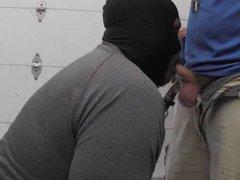 Big Tall vidz Black Swallow  super White Bear Cum in Work Truck