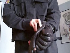 Police uniform vidz and gloves