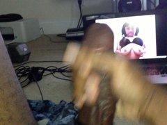 Strokin with vidz cock ring