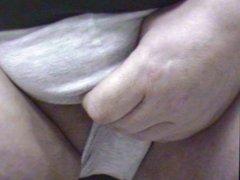 Masturbating tiny vidz dick, edging,  super shooting in briefs