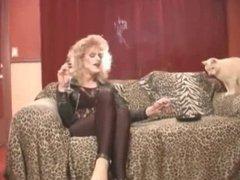 Hot CD vidz Cougar Smoking  super In Leather II