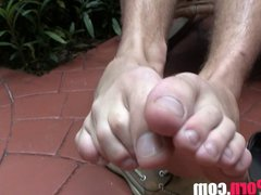 Twink's Foot vidz Fetish FEET  super TOES SOLES BATHINGSUIT SHOES TWINK