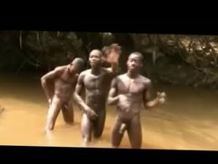 African Twinks vidz Naked in  super the River