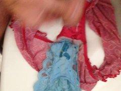Wanking off vidz into panties