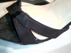 Huge cumshot vidz on new  super high heel mules