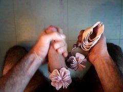 sperme sur vidz sandales rose  super cable