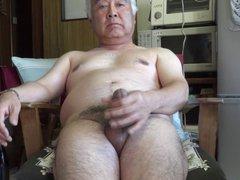 Japanese old vidz man masturbation  super Ejaculation in the kitchen