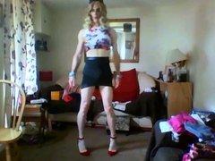 short skirt vidz and crop  super top