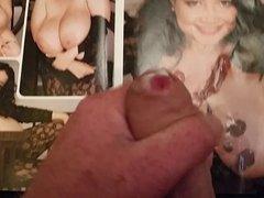 Cumming over vidz a cum  super soaked porn mag