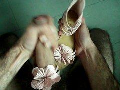 sperme sur vidz sandales rose  super cable autre