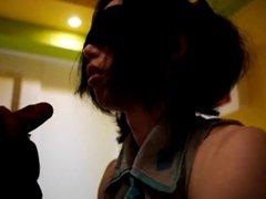 Japanese teen vidz CD blindfold  super bj swallow