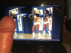 stroking to vidz the Dallas  super Cowboys cheerleaders