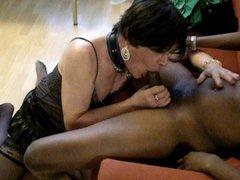 Mature slut vidz sucking young  super BBC