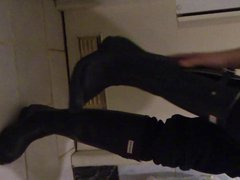 Hunter boots, vidz Nike socks