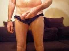 Panties, dildo, vidz double cumshot