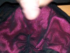 Jerk off vidz on wife's  super panties #2