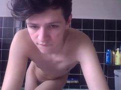 Teen Uk vidz show in  super bathroom and bedroom