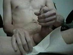 Stroking my vidz huge cock  super again