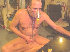 shaved poppers vidz gay sniff  super per mask