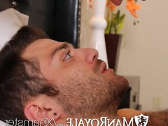 HD - vidz ManRoyale Guy  super wakes up with bf's mouth on his dick