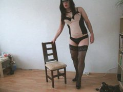 Hot tranny vidz ejaculation in  super sexi Lingerie