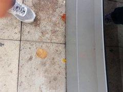 cum near vidz girl in  super bus stop