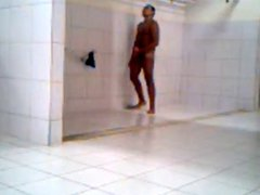 caught a vidz guy turned  super on in gym shower